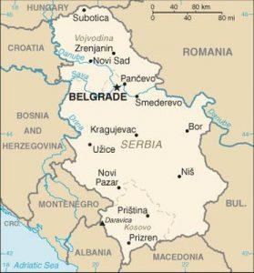 mappa serbia